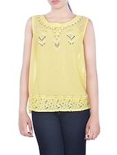 yellow cotton regular top -  online shopping for Tops