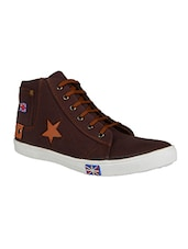 brown Canvas lace up sneaker -  online shopping for Sneakers