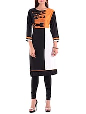 black rayon straight kurta -  online shopping for kurtas