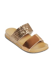 tan synthetic embellished sandals -  online shopping for sandals