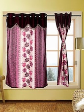 Set Of 5 Kings Furnishing  5ft Designer (With Skalap) Window Curtain - By