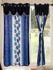 Set of 10 Kings Furnishing  7ft Designer (With Skalap) Door Curtain -  online shopping for Curtains