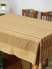 Dhrohar Hand Woven Brown Cotton Table Cover For 4 Seater Table - By