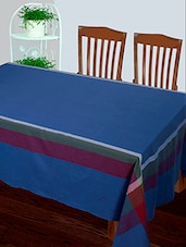 Dhrohar Hand Woven Cotton Table Cover For 4 Seater Table - Earthy Blue - By