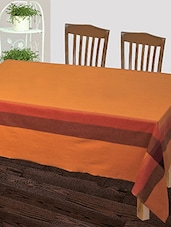 Dhrohar Hand Woven Cotton Table Cover For 4 Seater Table - Yellow - By