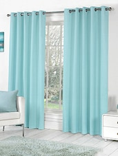 Trendz Home Furnishing Plain Door Aqua Clour Curtain Set of 2 -  online shopping for Curtains
