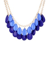 Blue Metal Chain Necklace - By