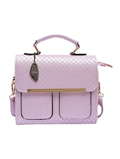 purple leatherette sling bag -  online shopping for sling bags