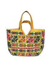 yellow cotton handbag -  online shopping for handbags