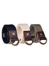 Pack Of 3 Multi Colored Canvas Belt - By - 12890414