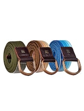 Pack Of 3 Multi Colored Canvas Belt - By - 12890483