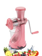 Kitchenware Fruit & Vegetable Juicer With Stainless Steel Handle - Pink -  online shopping for Other Accessories
