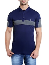 blue polyester t-shirt -  online shopping for T-Shirts