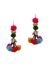 multi metal drop earring -  online shopping for earrings
