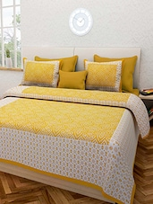 Jaipuri Printed Bed sheet With 2 Matching Pillow Cover -  online shopping for bed sheet sets