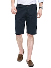 navy blue cotton shorts -  online shopping for Shorts