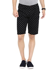 black cotton printed short -  online shopping for Shorts
