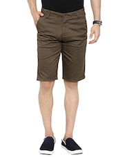 brown cotton short -  online shopping for Shorts
