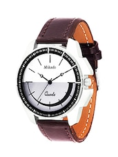 BROWN LEATHER ANALOG WATCH FOR MEN'S -  online shopping for Analog Watches