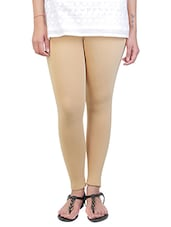 beige cotton leggings -  online shopping for Leggings