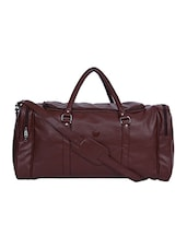 brown leatherette luggage -  online shopping for dufflebag