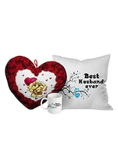 StyBuzz valentines day love message gift combo (heart, mug and cushion ) -  online shopping for gifts & combos