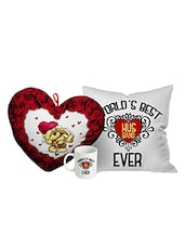 StyBuzz valentines day best husband gift combo (heart, mug and cushion ) -  online shopping for gifts & combos