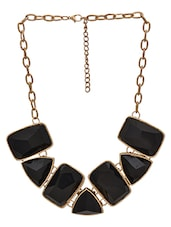 Gold And Black Metal Alloy  Stone Chain - By