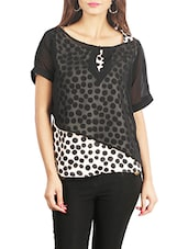 black printed georgette top -  online shopping for Tops