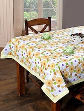 Trendz Home Furnishing  Cotton Floral Printed Table Cover - By