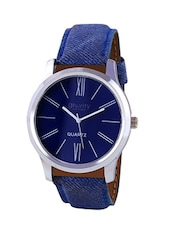 blue round dail analog watch -  online shopping for Analog Watches