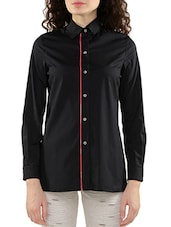 black cotton regular shirt -  online shopping for Shirts