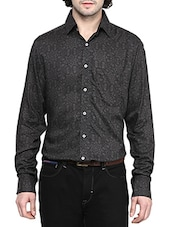 black cotton printed casual shirt -  online shopping for casual shirts