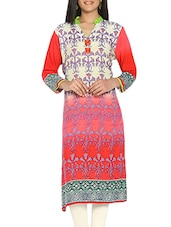 red colored rayon straight kurta -  online shopping for kurtas