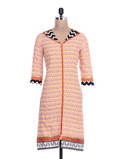 Multicolored Cotton Printed Kurta - By - 1296230