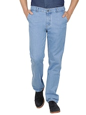 light blue cotton regular jean -  online shopping for Jeans