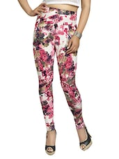 pink cotton printed jegging -  online shopping for Jeggings