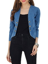 blue denim blazer -  online shopping for Blazers