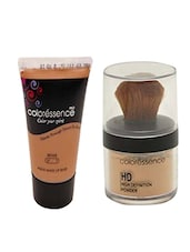 Coloressence Aqua Makeup Base Foundation (Beige Lf-1) And High Definition Face Powder (Beige Fp - 1) (Pack of 2) -  online shopping for beauty sets and combos