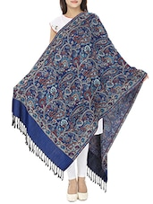 navy blue viscose shawl -  online shopping for shawls