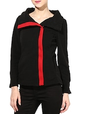 Solid Black Polar Fleece Jacket - By