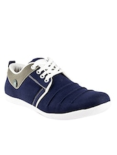 blue Canvas lace up sneaker -  online shopping for Sneakers