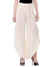 cream polyester palazzo -  online shopping for Palazzos