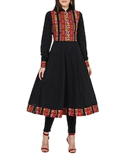 black cotton  plain anarkali -  online shopping for kurtas