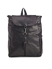 black leatherette backpack -  online shopping for backpacks