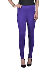 Purple Blue Viscose Lycra Leggings - By