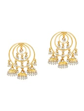 gold brass other earring -  online shopping for earrings