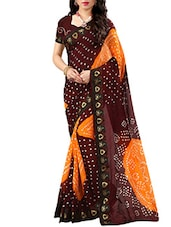 multi cotton bandhani saree -  online shopping for Sarees