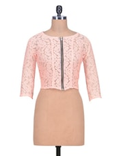 Pink Net Top -  online shopping for Tops