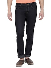 black cotton slim jean -  online shopping for Jeans
